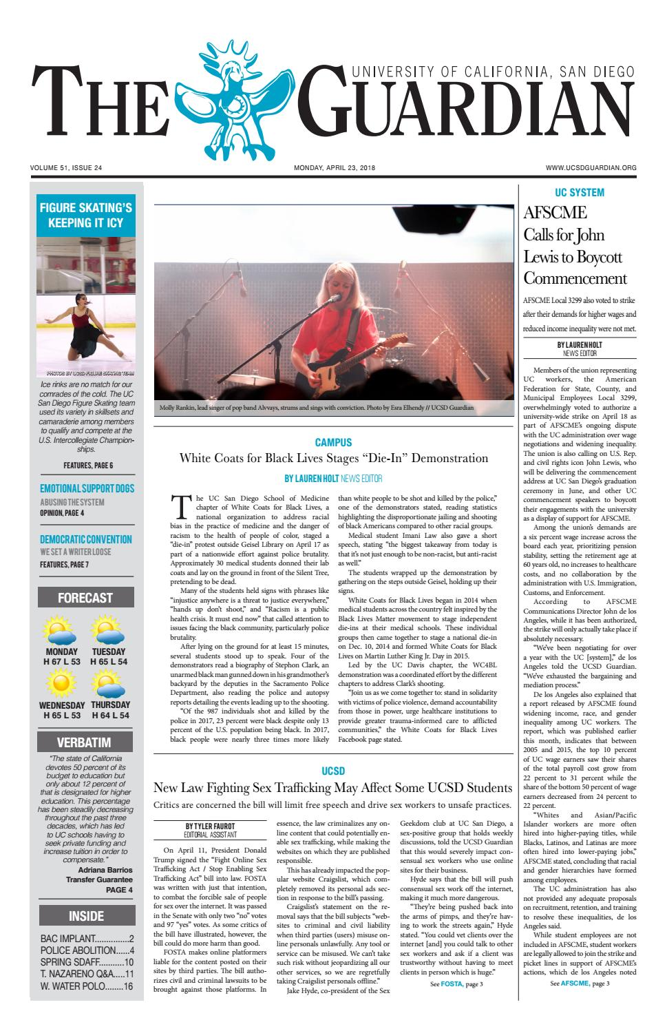 UCSD Guardian 04/23/18 by UCSD Guardian - issuu