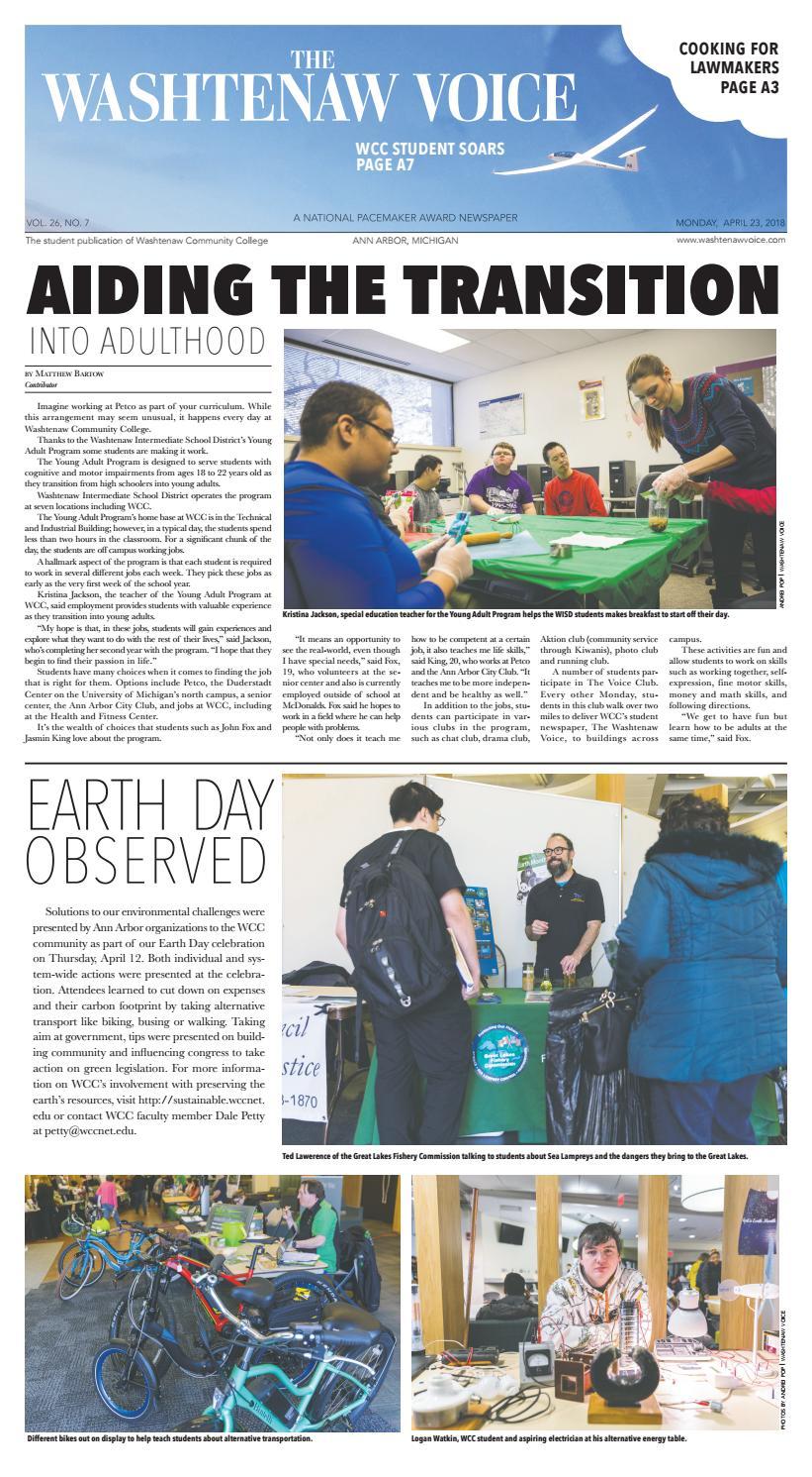 Student Helpdesk Rug.The Washtenaw Voice 04 23 2018 By The Washtenaw Voice Issuu