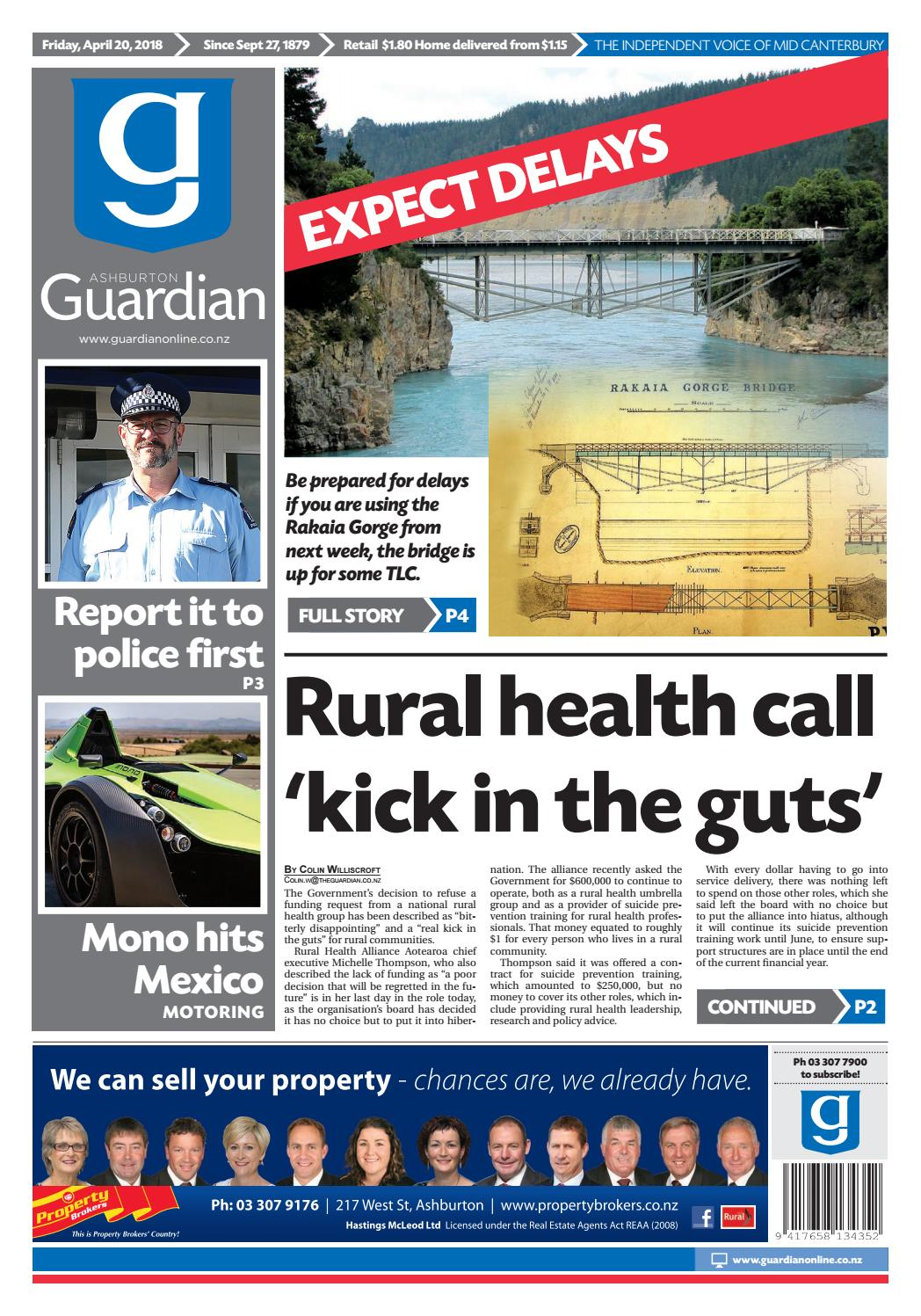 Ag 20 april, 2018 by Ashburton Guardian - issuu