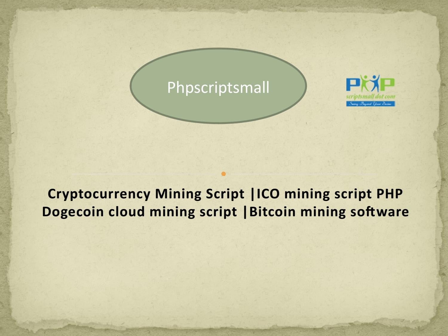 Dogecoin Cloud Mining Script Cryptocurrency Mining Script By Jamessuresh12 Issuu