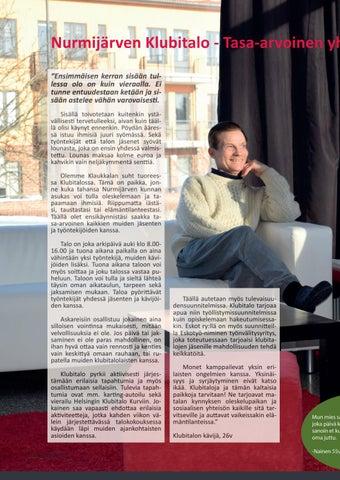 Page 12 of Nurmijärven Klubitalo