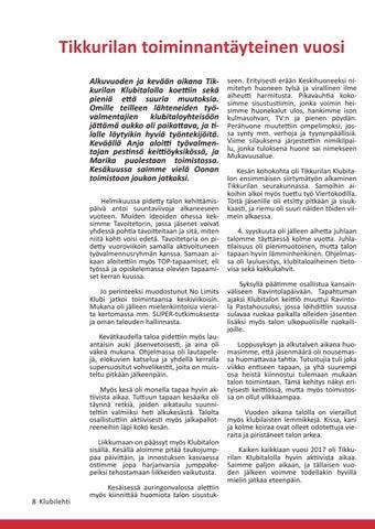 Page 8 of Tikkurilan Klubitalo