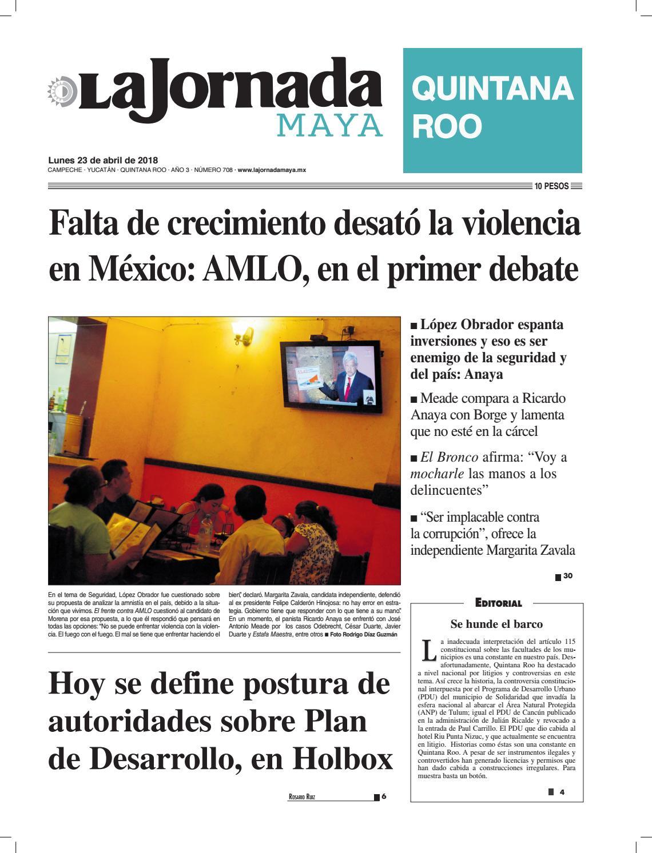 555fc1c5ef19 La jornada maya · lunes 23 de abril de 2018 by La Jornada Maya - issuu