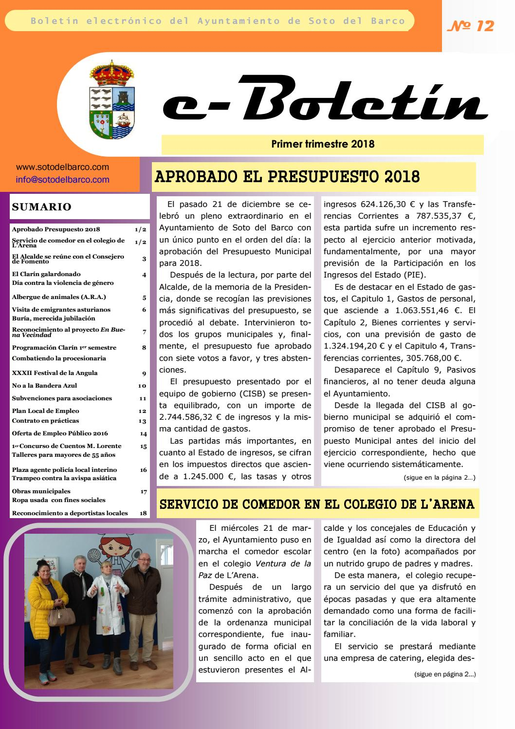 E Boletin 12 By Ayuntamiento De Soto Del Barco Issuu