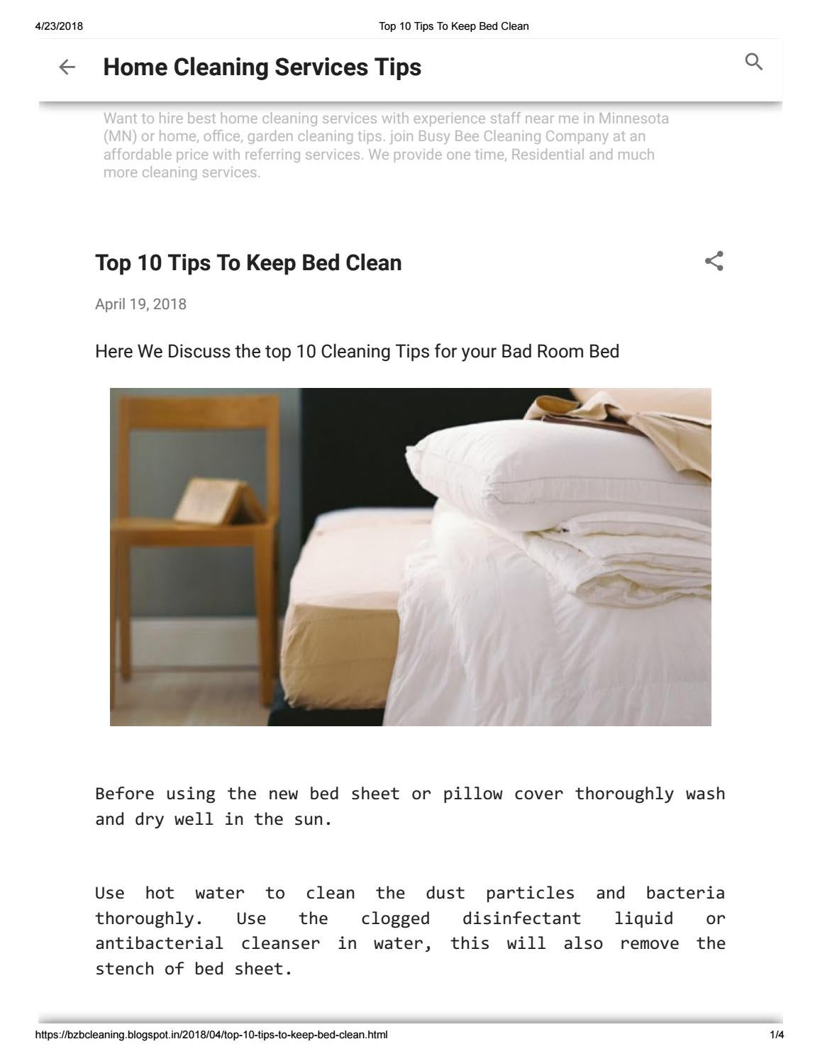Top 10 Tips To Keep Bed Clean By Dimitriy Papkov Issuu