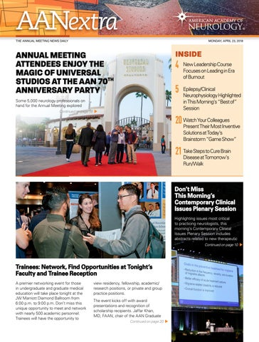 2018 Annual Meeting Aan Extra Monday Apr 23 By American Academy