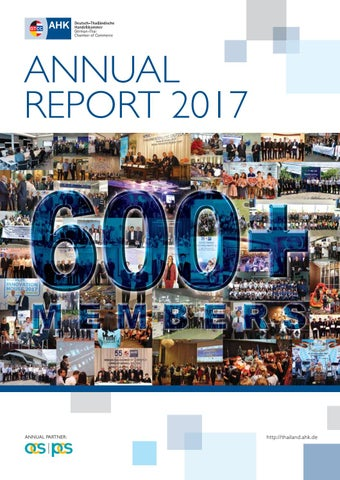 Annual report 2017 by German-Thai Chamber of Commerce - issuu