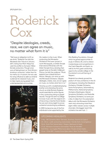 Page 22 of Spotlight on... Roderick Cox