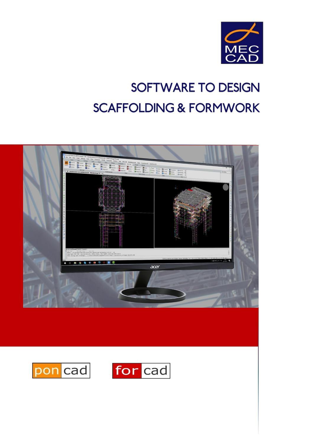 Mec Cad Scaffolding Formwork Design Software By Mec Cad Issuu