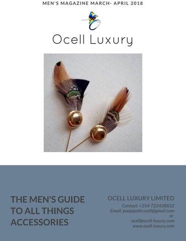 Ocell Luxury Men's Magazine Mar-Apr 2018 by Ocell Luxury - issuu