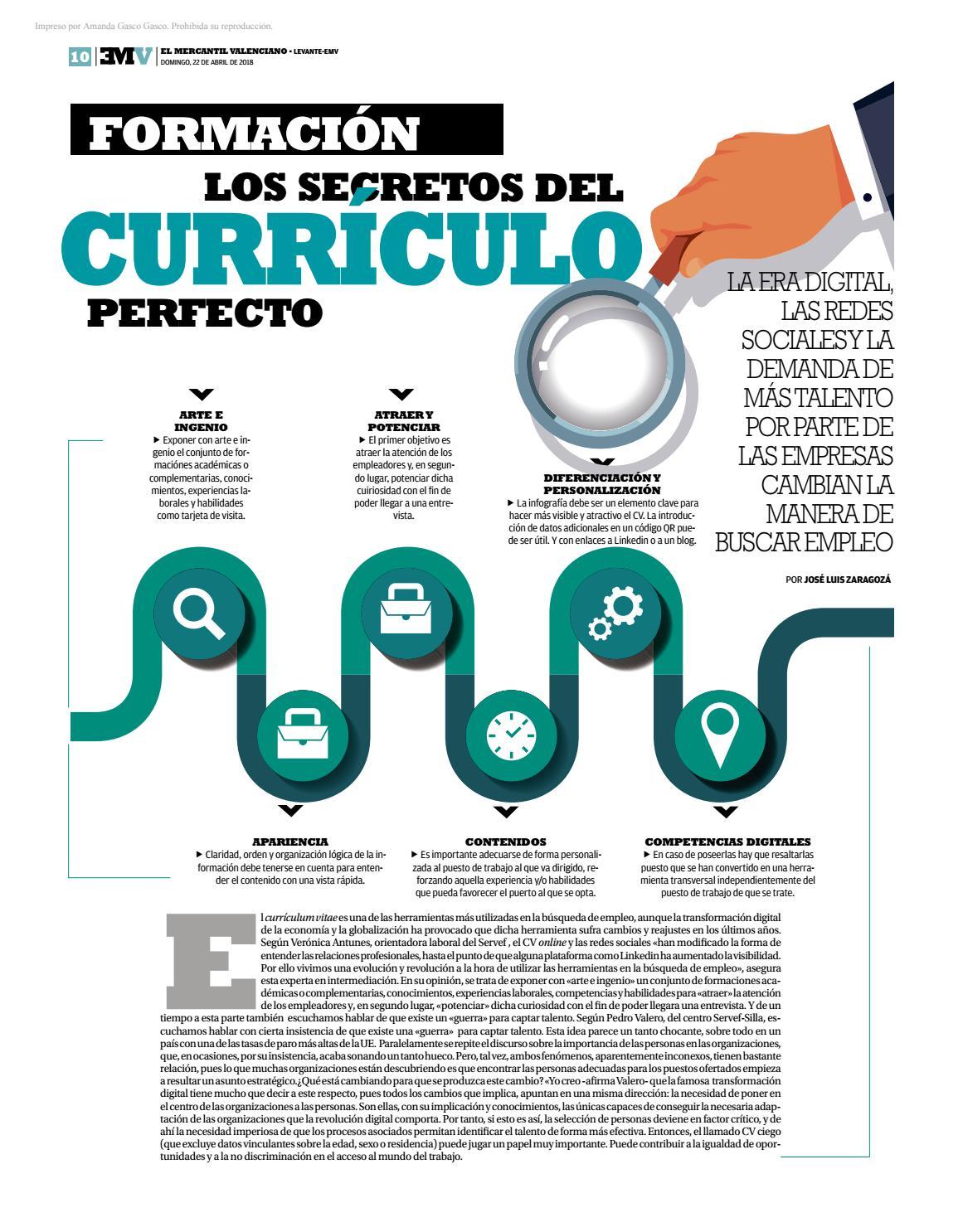 Los secretos del currículo prefecto by GVA Servef - issuu