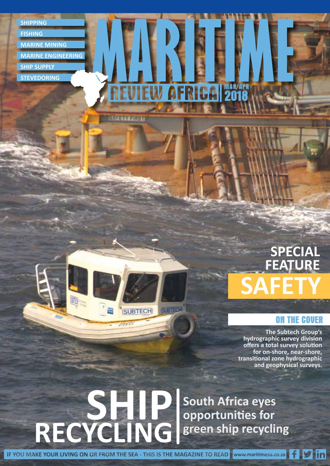 Maritime Review Africa MarchApril 2018 by More Maximum Media - issuu