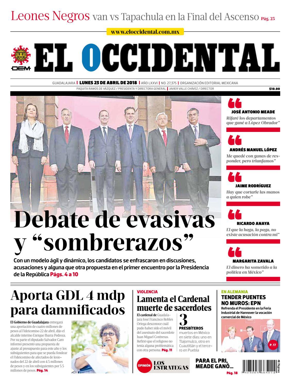 EL OCCIDENTAL 23 de abril de 2018 by EL OCCIDENTAL - issuu 79893add33436