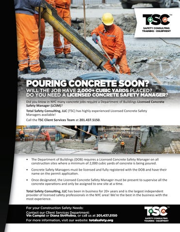 TSC Concrete Safety Manager & TSC Onsite Med Tech Service