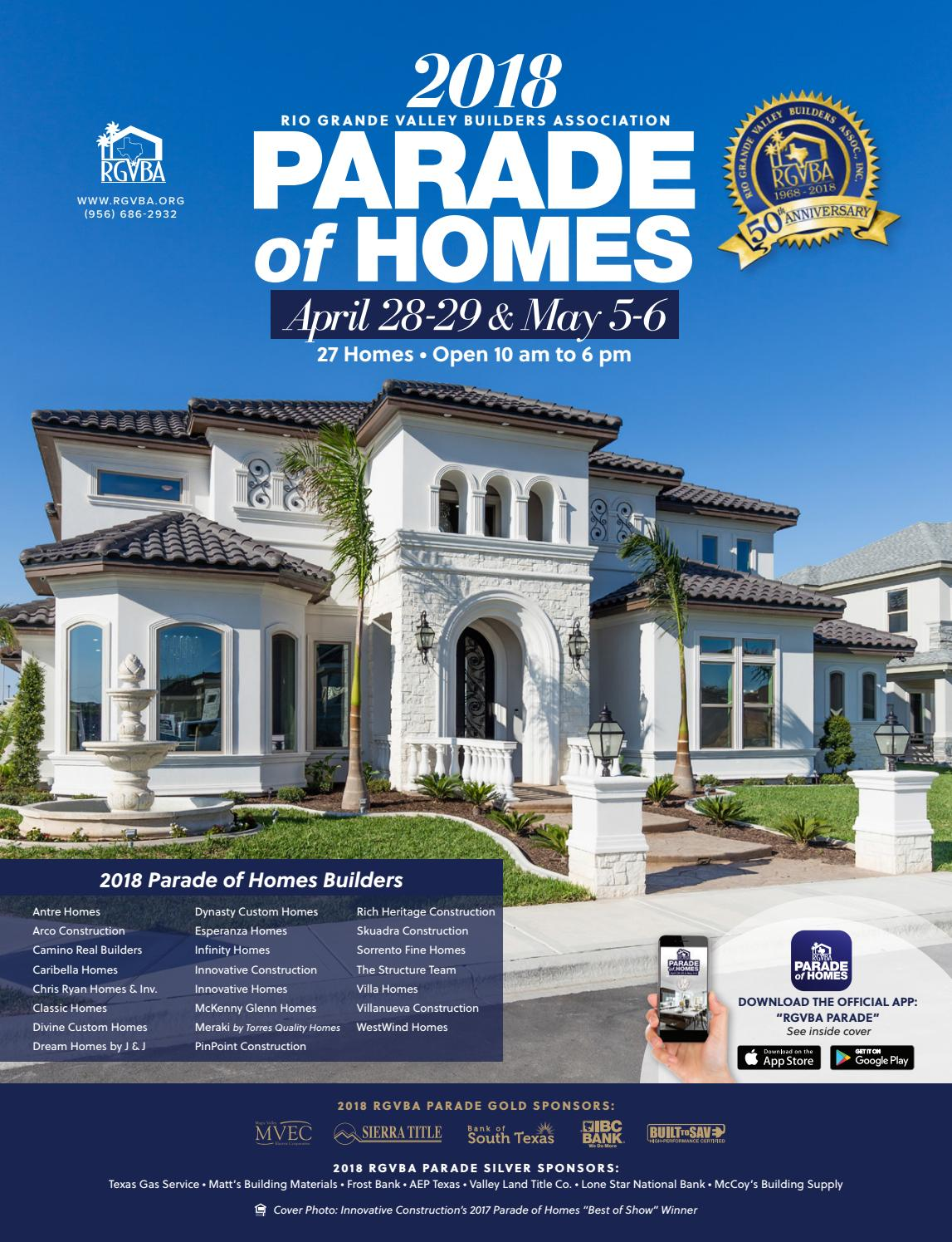 2018 Rgvba Parade Of Homes Guidebook By
