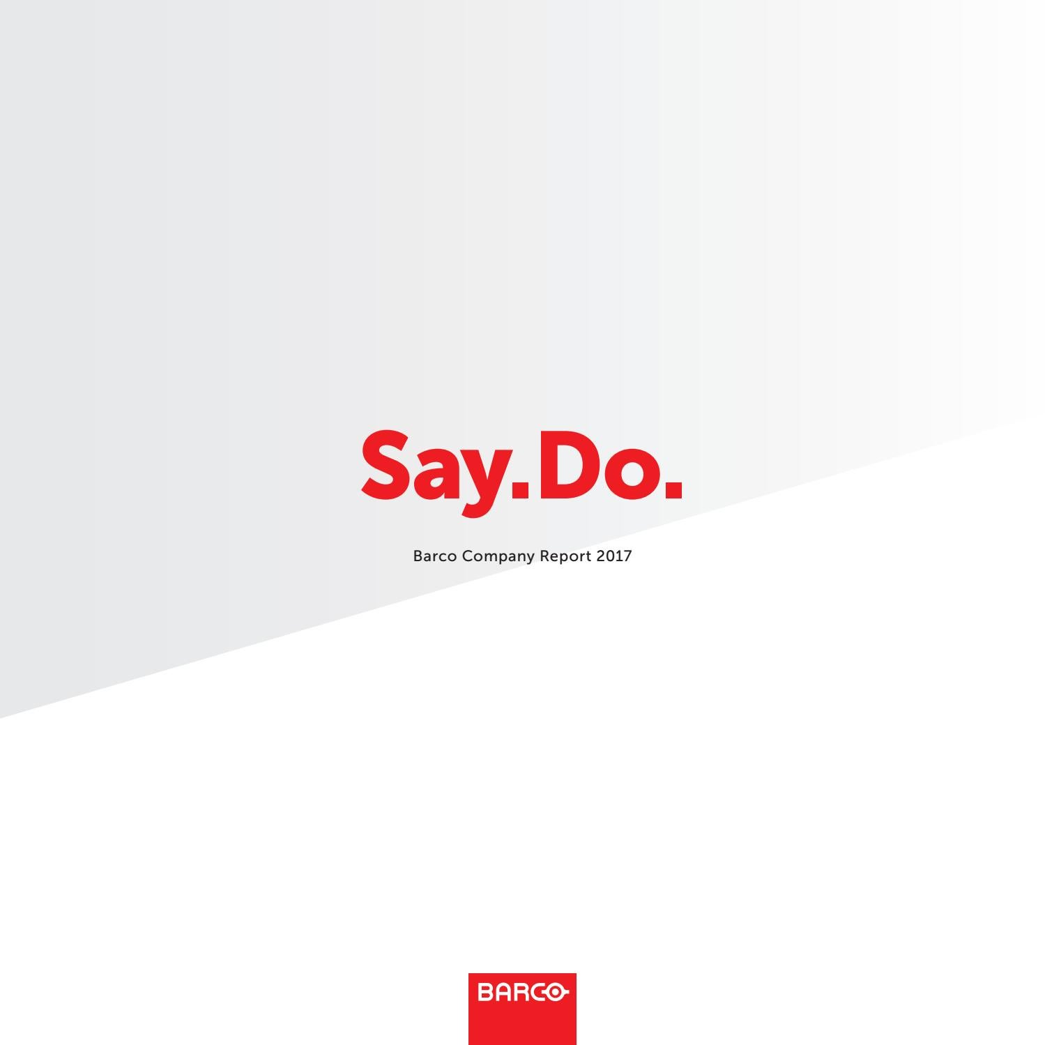c9dc4c32ffe Barco annual report 2017 by Barco - issuu