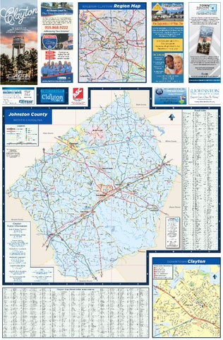 Clayton NC Map 2018 by Town Square Publications, LLC - issuu on