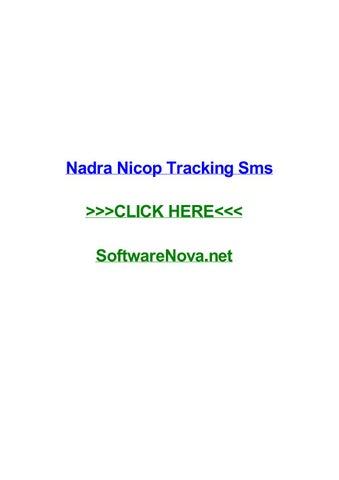 Nadra nicop tracking sms by tonyajmiyj - issuu