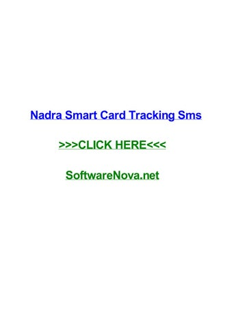 Nadra smart card tracking sms by chriszvorv - issuu