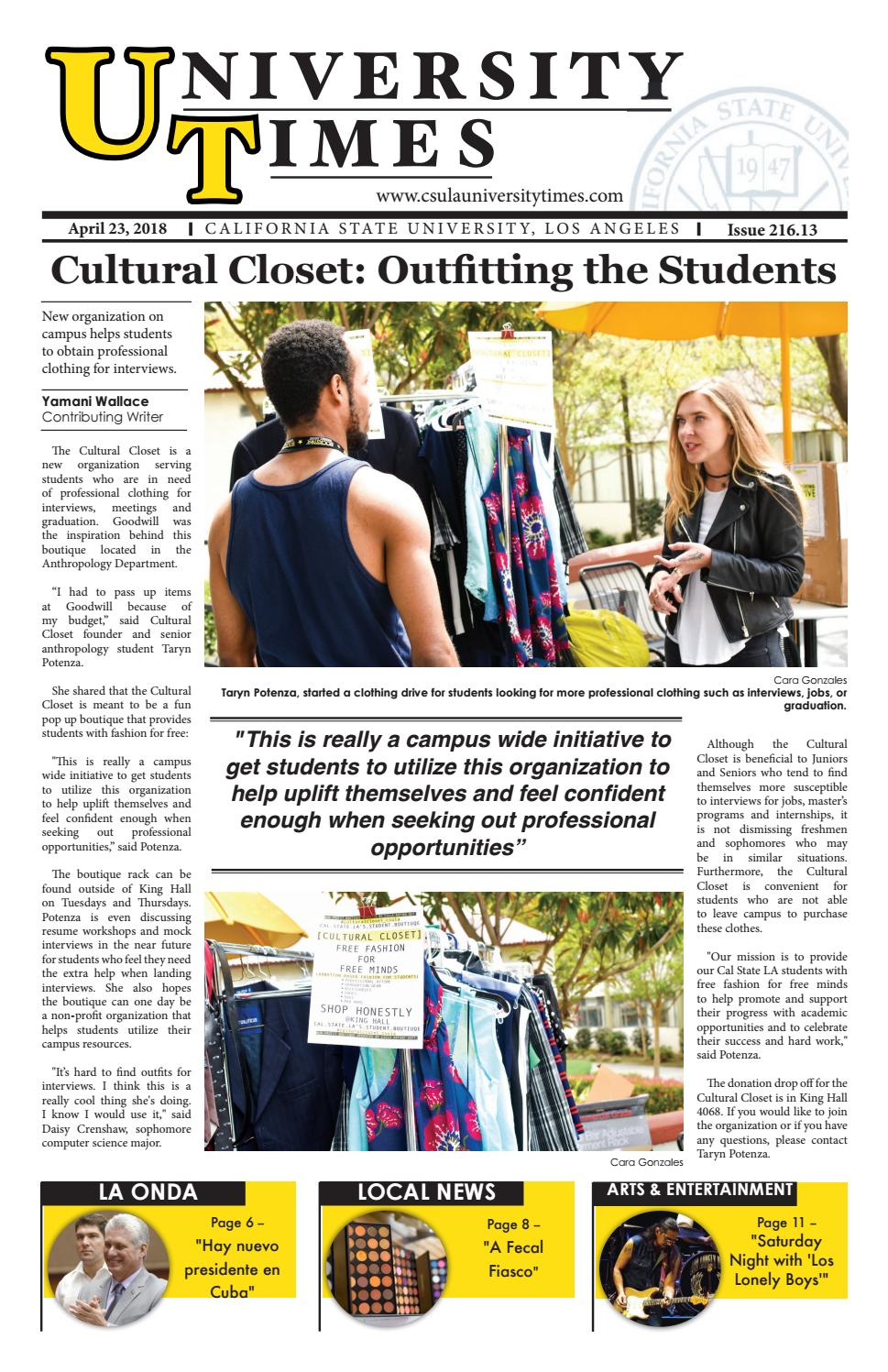 Spring Issue 216 13 By Csula University Times Issuu
