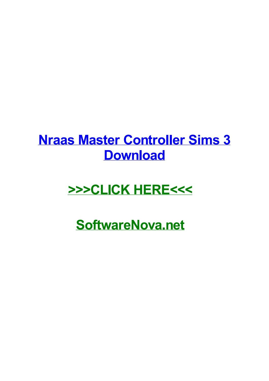 Nraas mastercontroller can't get it to work!! :( — the sims forums.