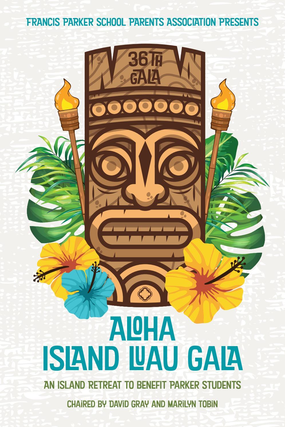 Aloha Island Luau Gala Program by Francis Parker School
