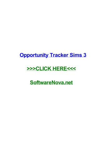 opportunity tracker sims 3 by toddtgwu issuu