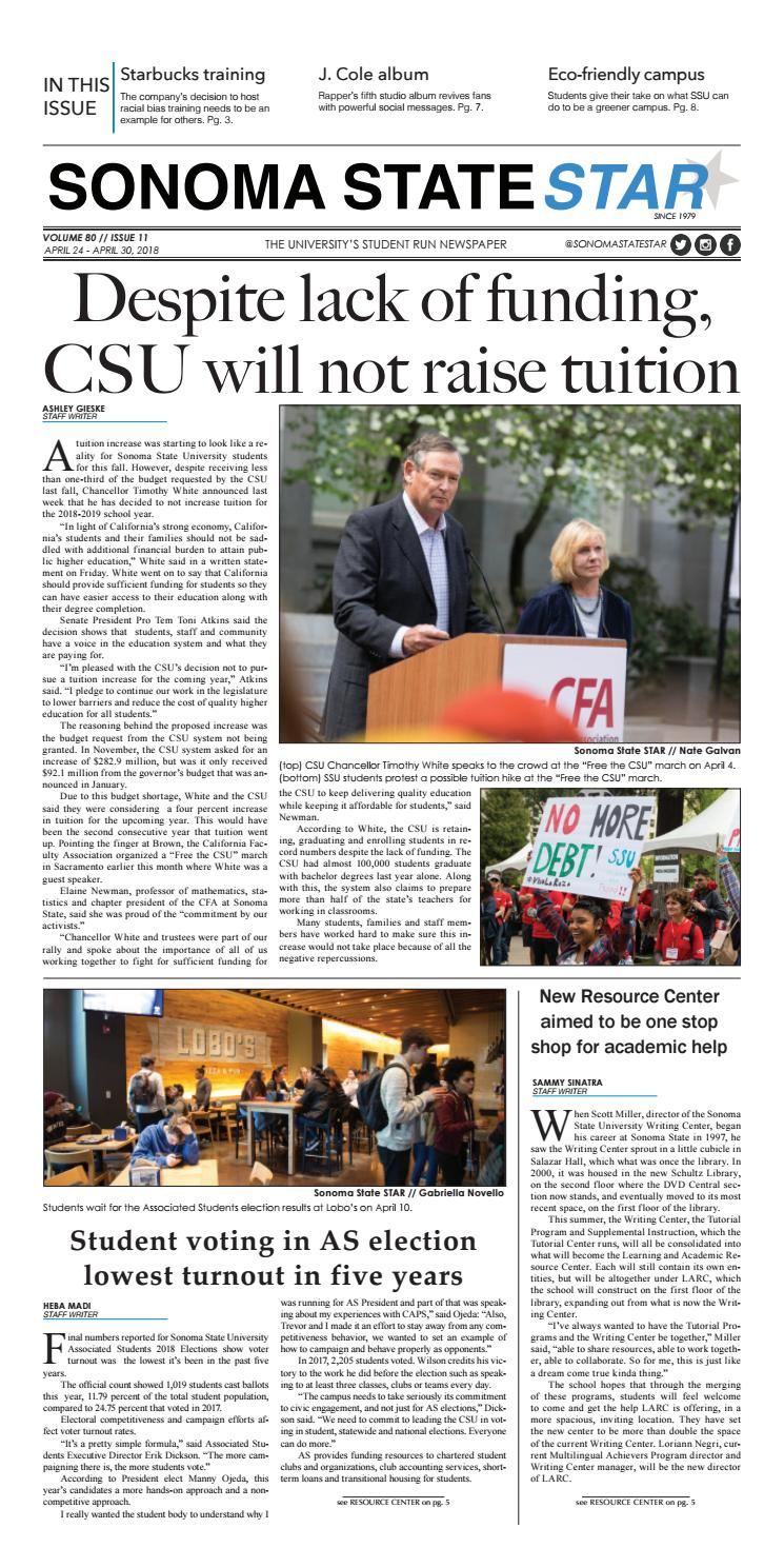 Volume 80 // Issue 11 by Sonoma State STAR - issuu