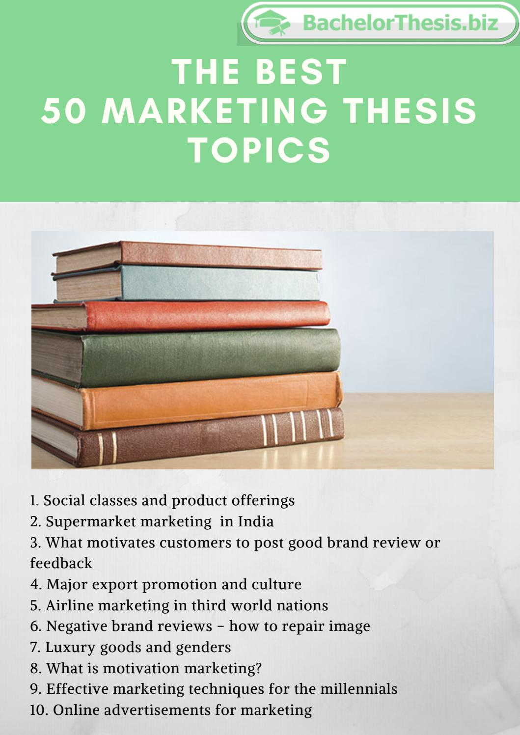 Thesis topics marketing good teacher resume