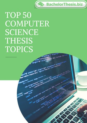 thesis suggestions for computer science