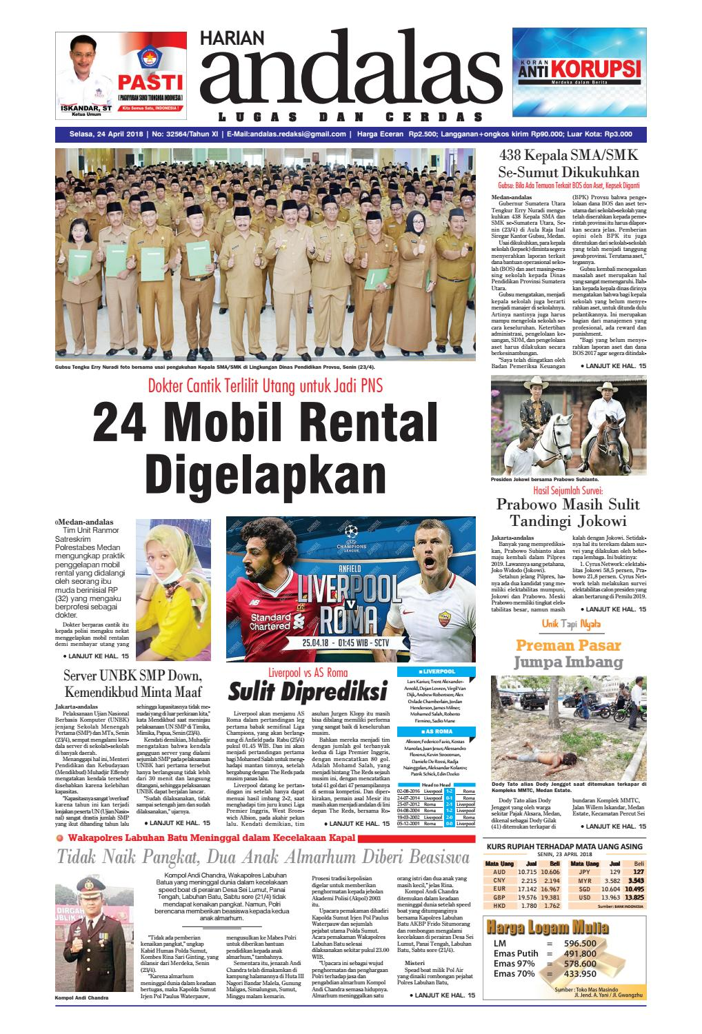 Epaper Andalas Edisi Selasa 24 April 2018 By Media Andalas Issuu