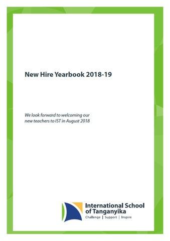 New Teachers/Admin Yearbook 2018 by International School of