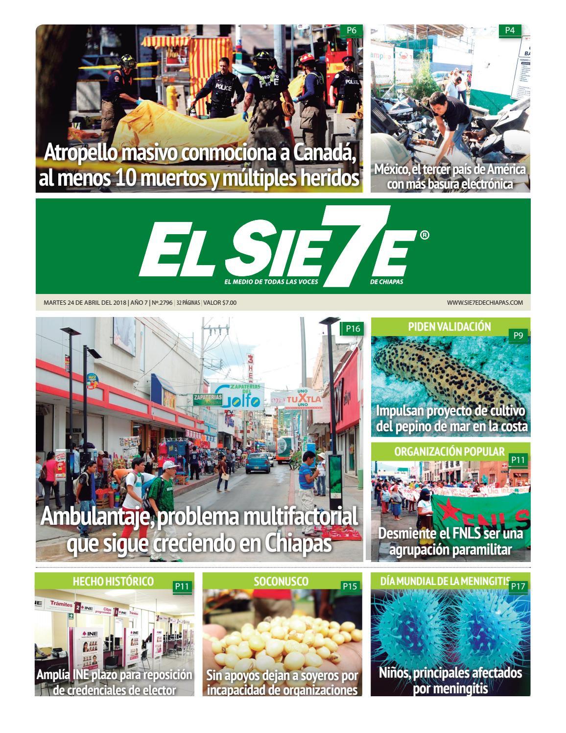24/04/18 by El Sie7e de Chiapas - issuu