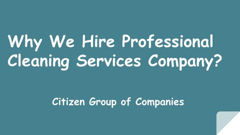 Cleaning Services Abu Dhabi - Citizen Group of Companies by
