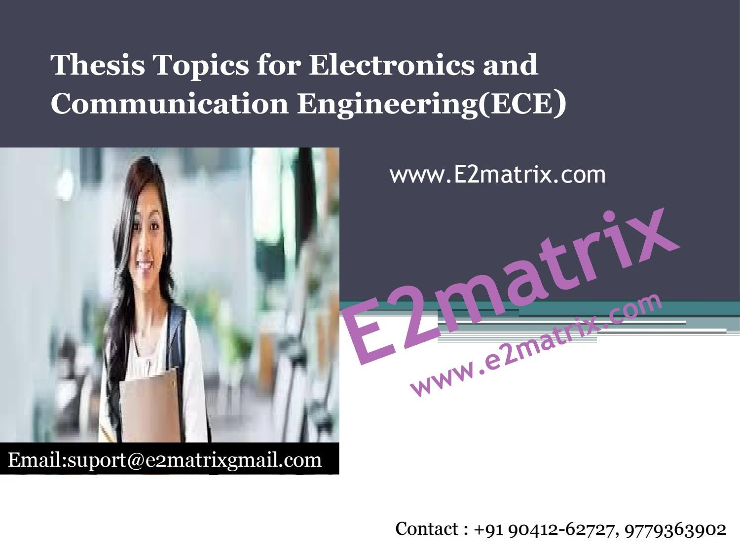 M tech thesis in electronics and communication sample thesis on internet banking