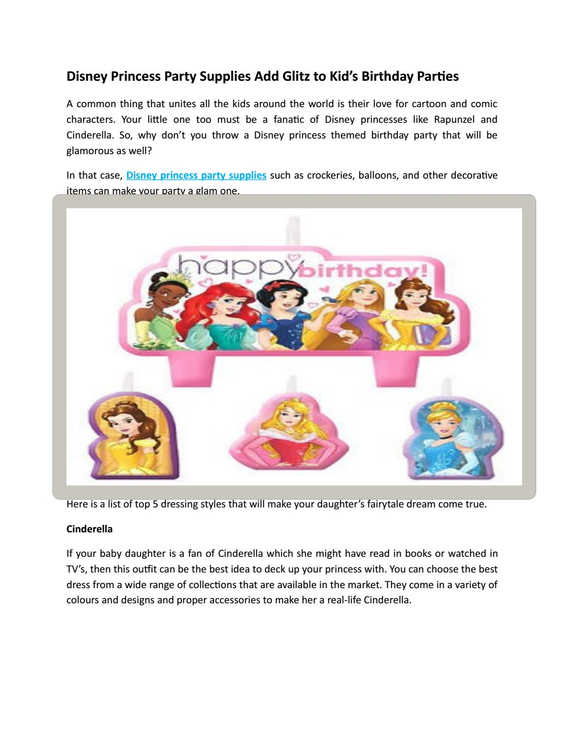 Disney Princess Party Supplies Giltz To Kids Party Supplies By