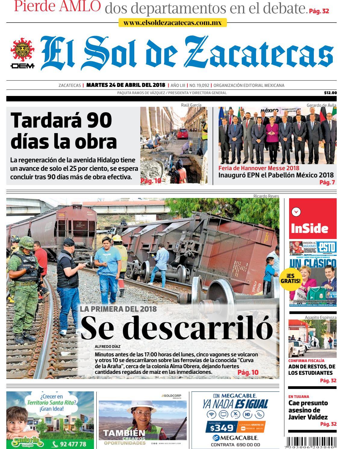 2d0326a93b7f El Sol de Zacatecas 24 de abril 2018
