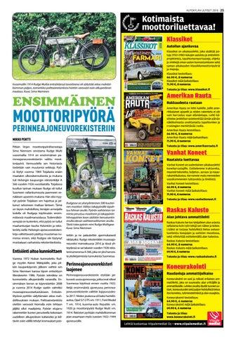 Page 25 of Rudge Multi ensimmäinen moottoripyörä perinnerekisteriin