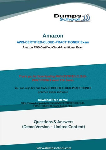 Aws certified cloud practitioner dumps by Latestexamdumps2018 - issuu