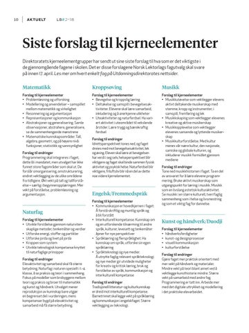 Page 12 of Siste forslag til kjerneelementer