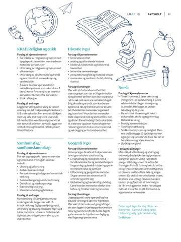 Page 13 of Siste forslag til kjerneelementer