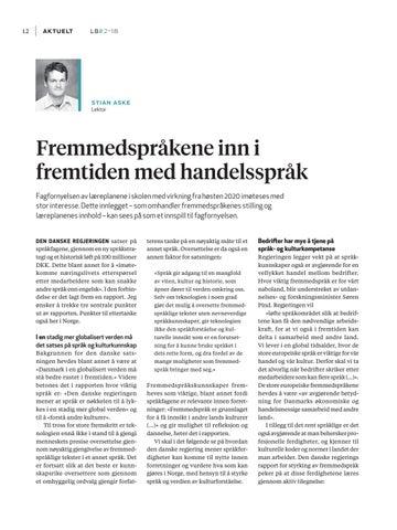 Page 14 of Fremmedspråkene inn i fremtiden med handelsspråk