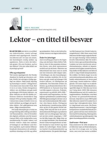 Page 24 of Lektor - en tittel til besvær