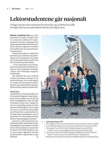 Page 8 of Lektorstudentene går nasjonalt!|