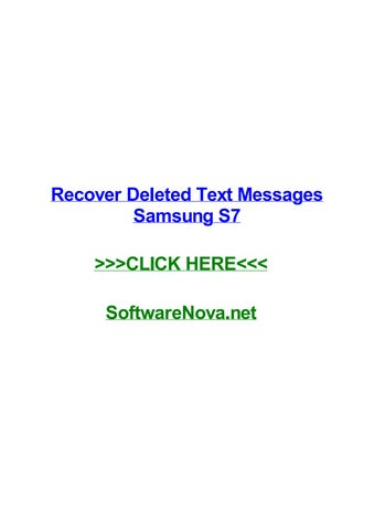 Recover deleted text messages samsung s7 by cheyennejmkik