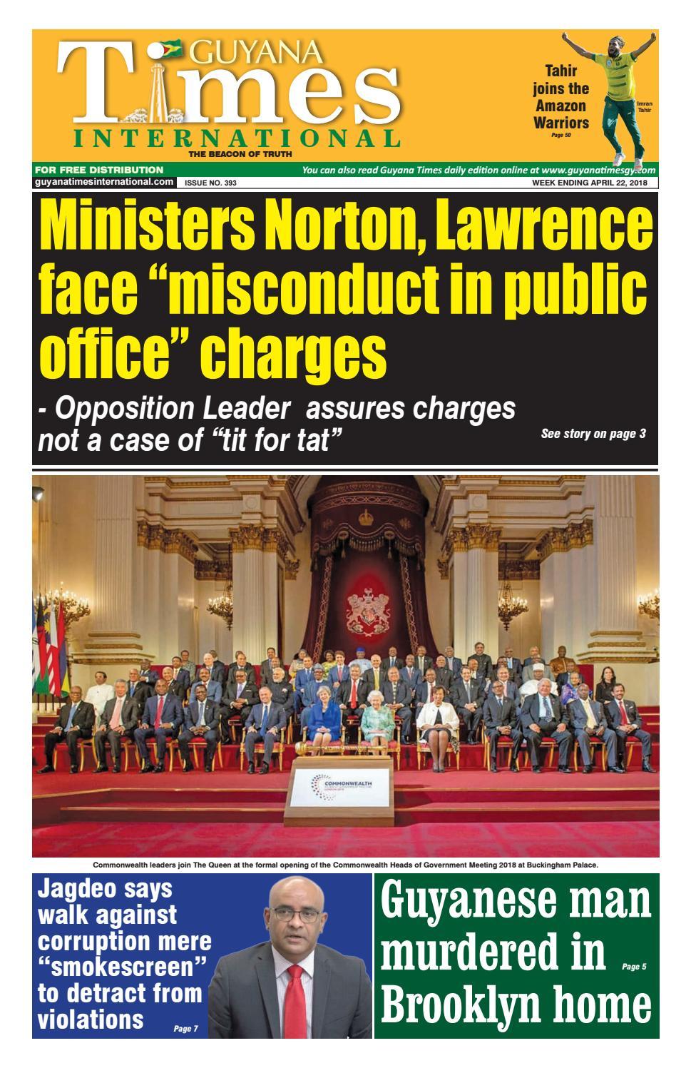 Guyana Times International April 24 2018 by Gytimes - issuu
