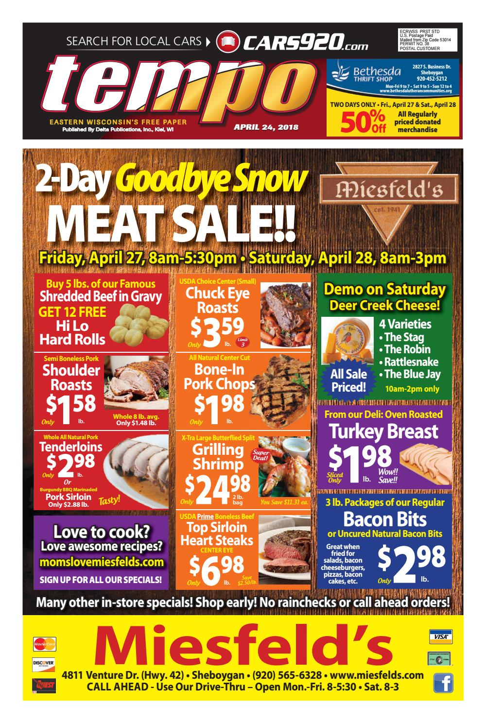 Tempo For Week Of 4 24 2018 By Delta Publications Issuu Brooaster Chicken Pkg 5 E Voucher