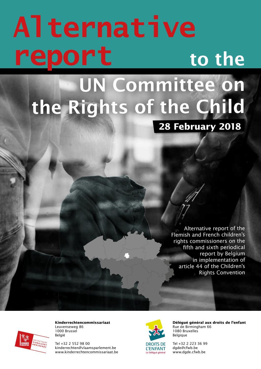 Top 5 Kinderrechten.Alternatief Rapport Krc Dgde 2018 En Def Cover 0 By