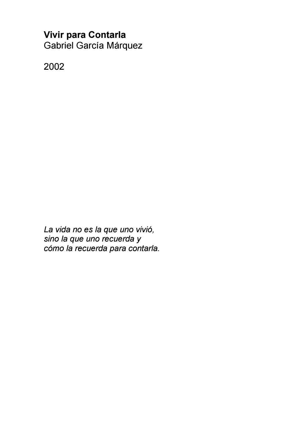 Vivir para contarla by Rosalinda Mirian - issuu