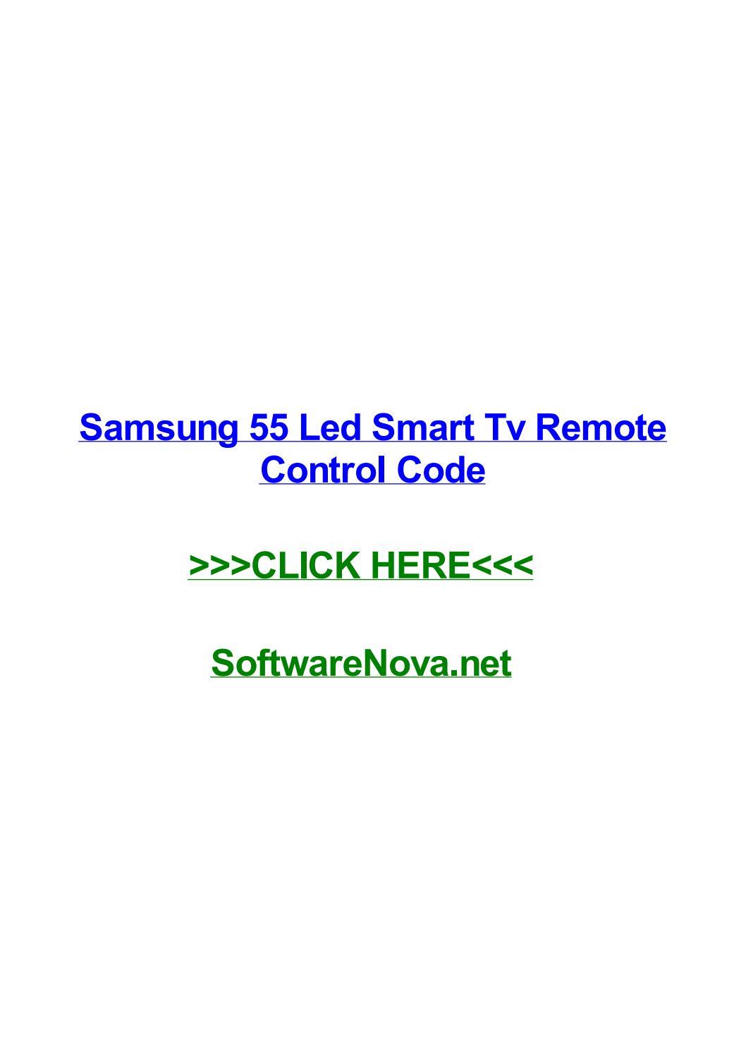 Samsung Smart Tv Remote Codes